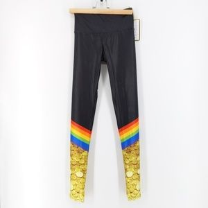 NWT Goldsheep End of the Rainbow Leggings XS